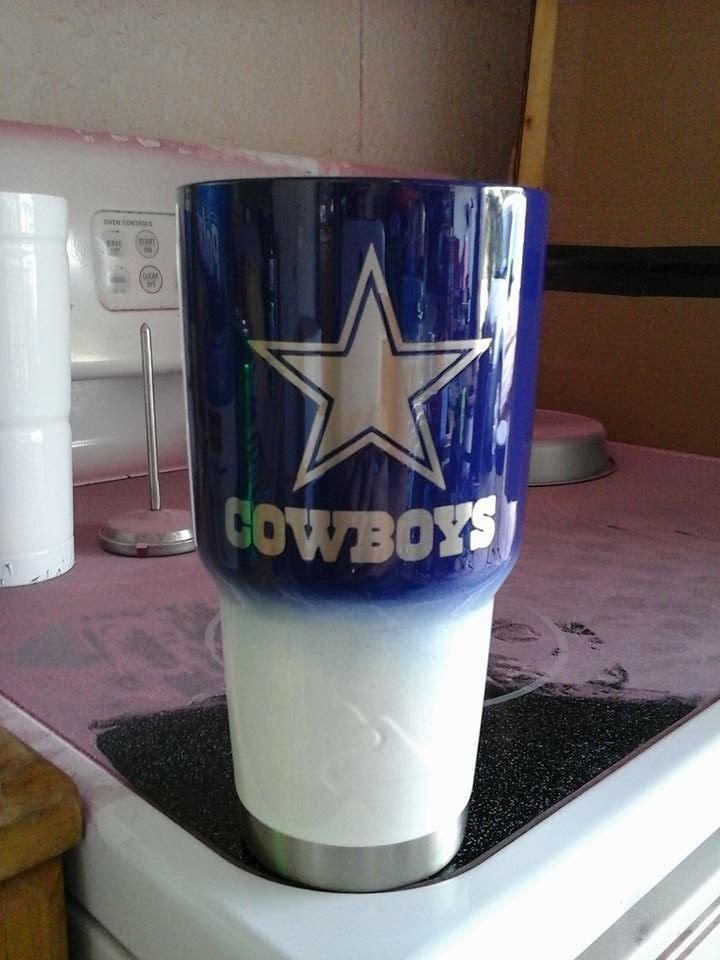 Custom Powder Coated Cups Tumblers Cowboy By
