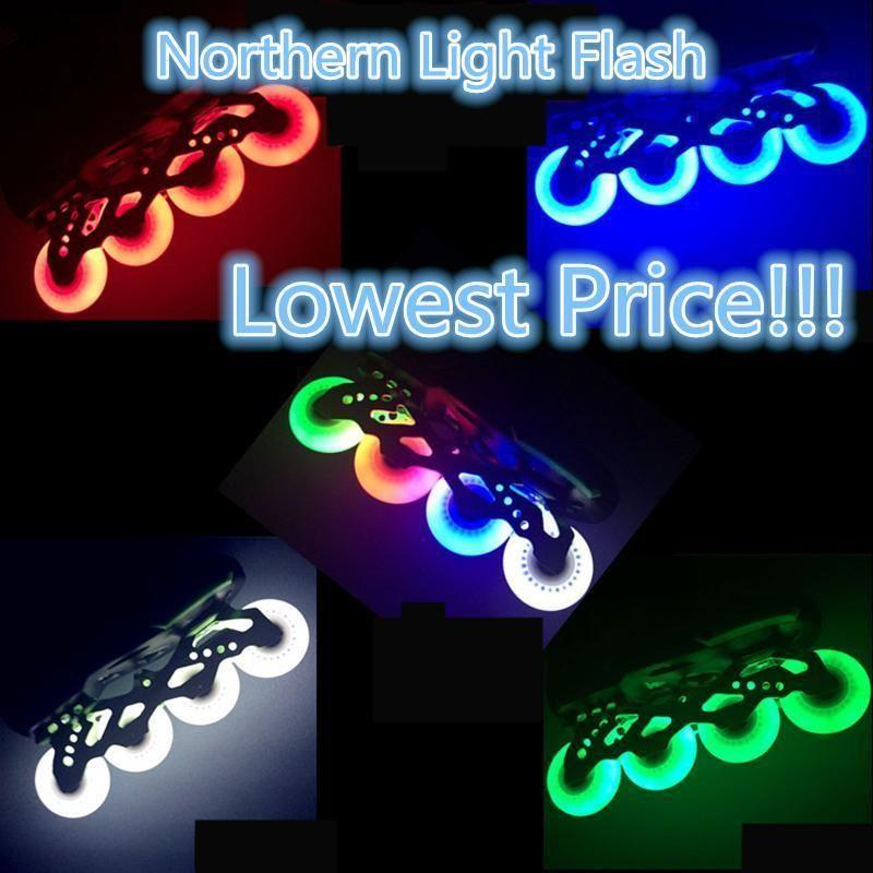 Seba Blue Luminous Light Up Inline Skate Wheels 76mm