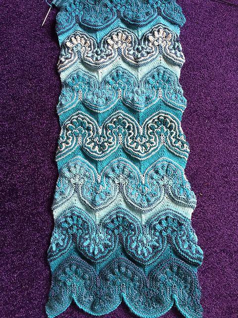 Turkish Wave Pattern By Olya Amimono Knitting Patterns Knits
