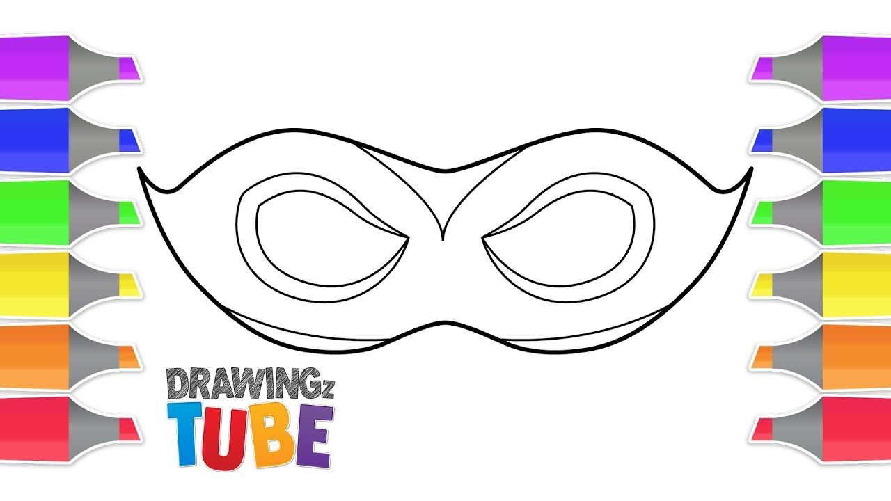 How To Draw A Eye Mask For Halloween Halloween Videos