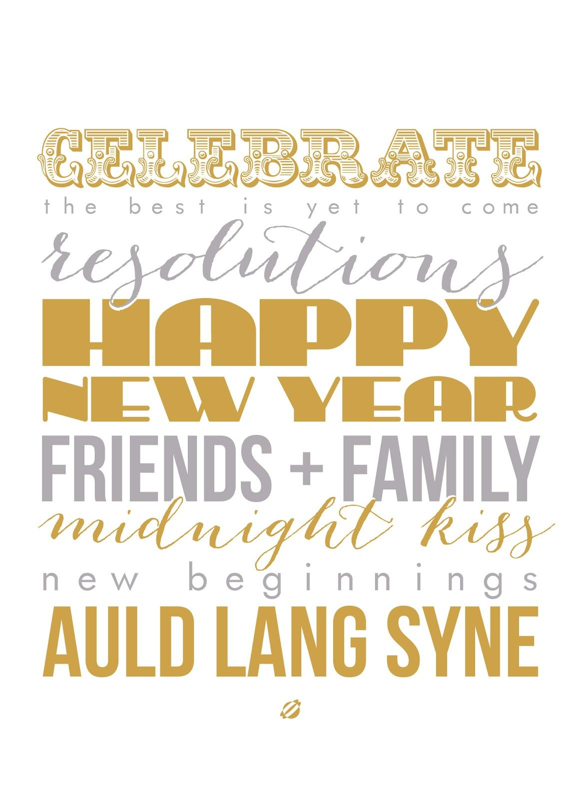 LostBumblebee 2013 HAPPY NEW YEAR FREE PRINTABLE New
