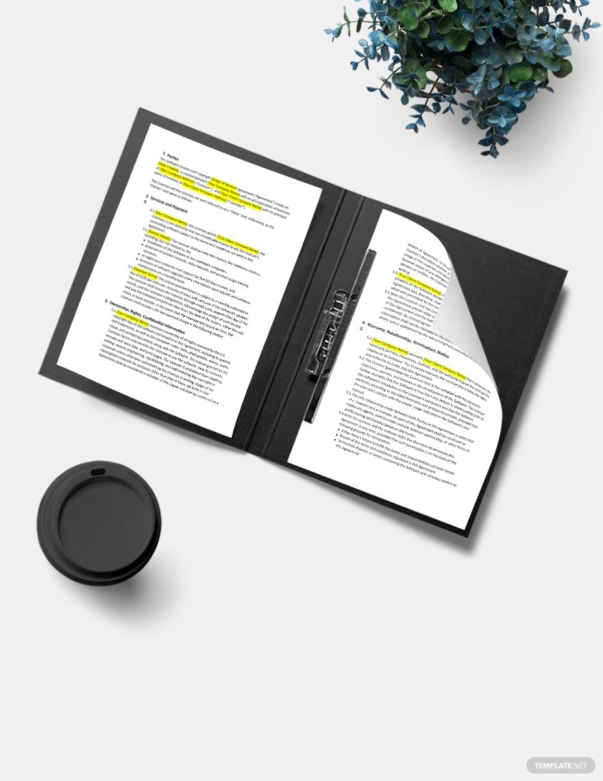 Software Copyright Notice Template Word Google Docs Apple Mac Pages In 2020 Templates Document Templates Software