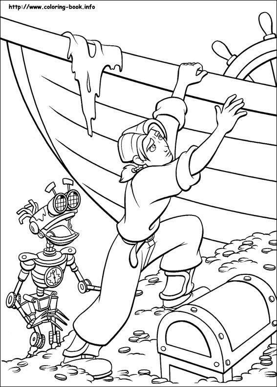 Treasure Planet coloring picture Coloring Pages 2 Pinterest