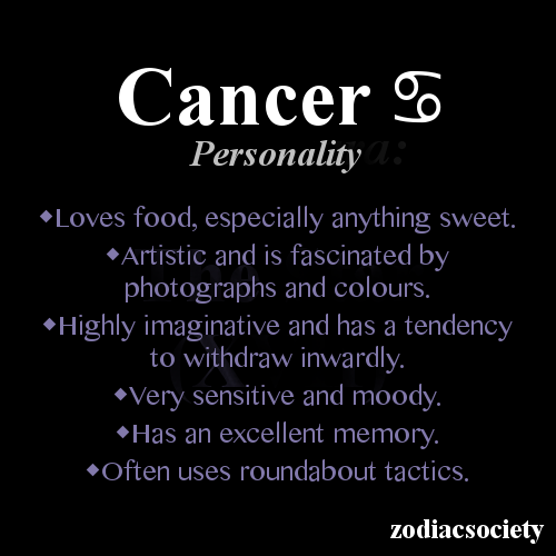 Cancerian Personality- everything except the memory one is