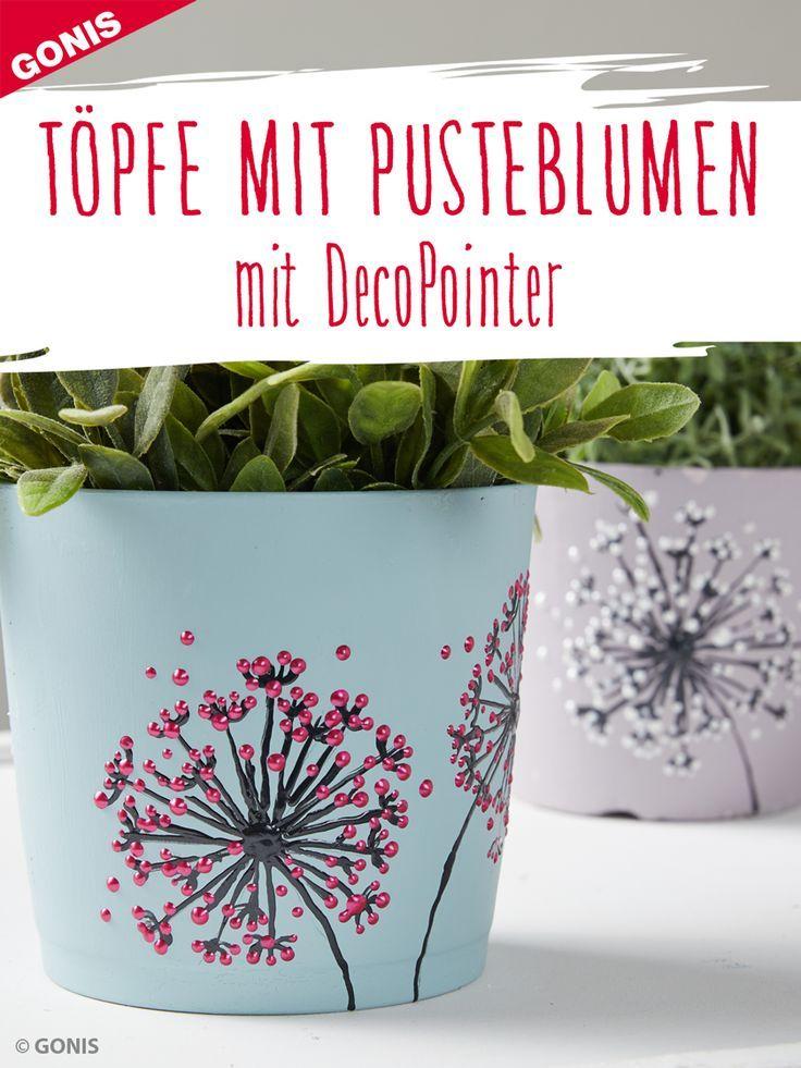 How to design flowerpots step by step with dandelion motifs. diy #flowerpot