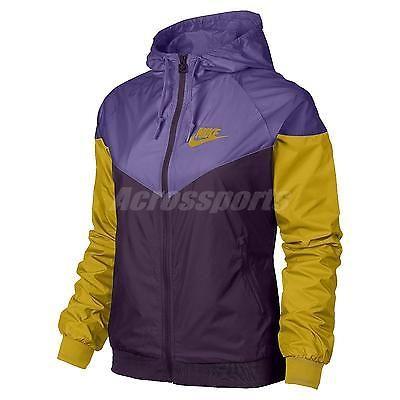 2924d7975b Asian Size Nike Windrunner Purple Yellow Womens Windbreaker Jacket  545909-508