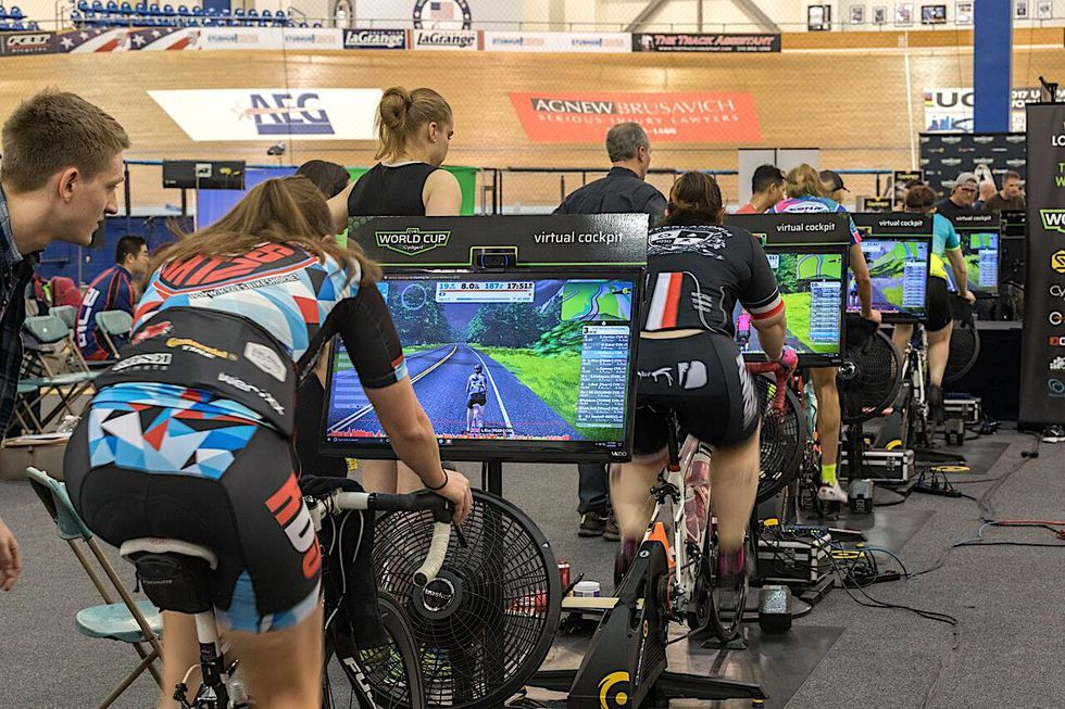 This Woman Won 7 800 In A Zwift Race Cycle Trainer Zwift