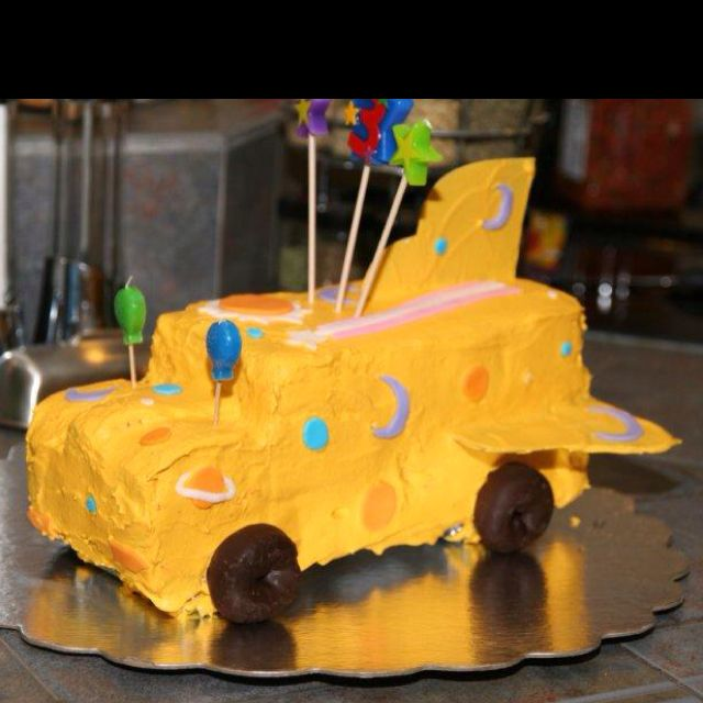 For His Third Birthday He Requested A School Bus Party, So