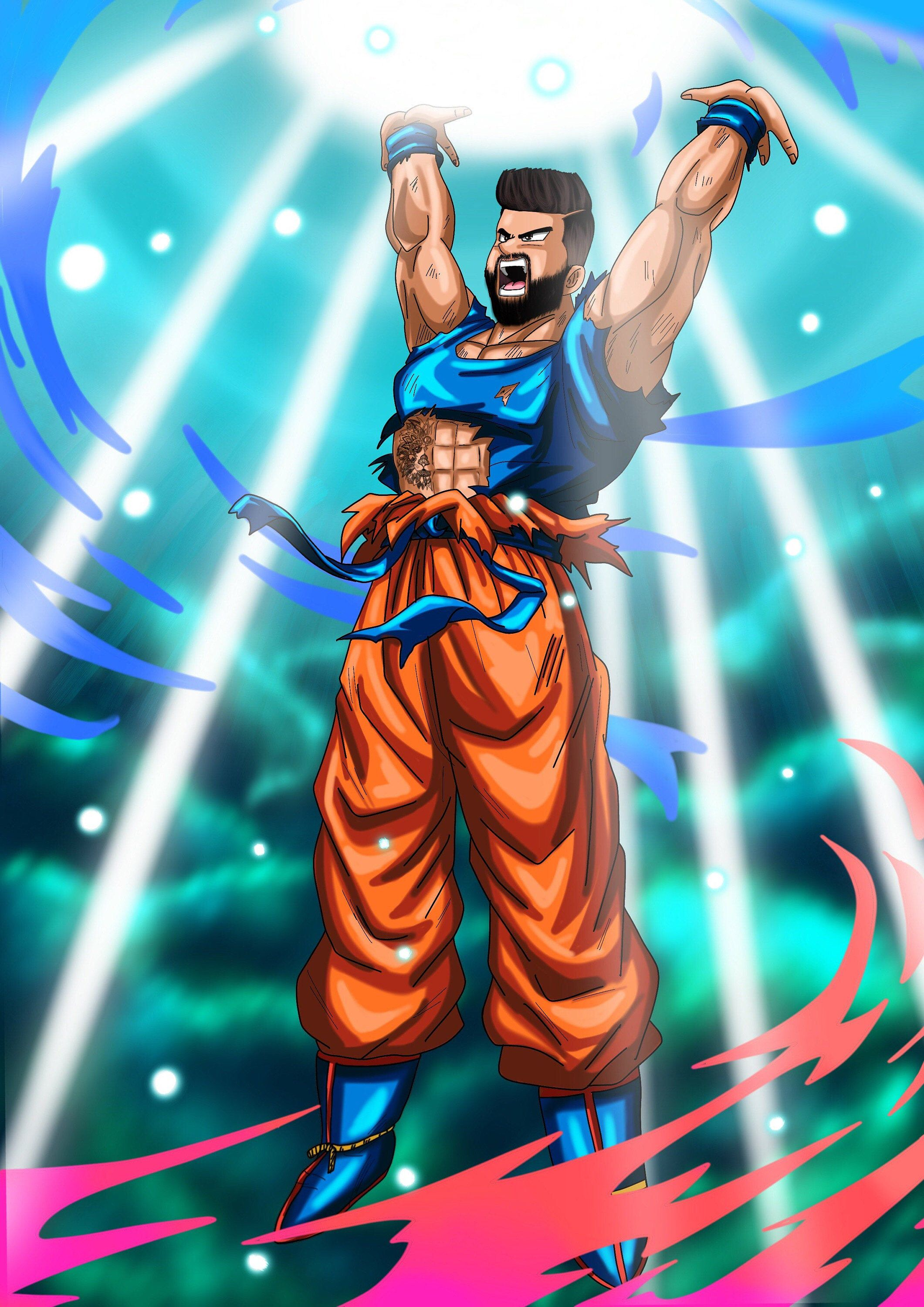 Dragon Ball Z Portrait Like Etsy Custom Cartoons Dragon Ball Z Goku