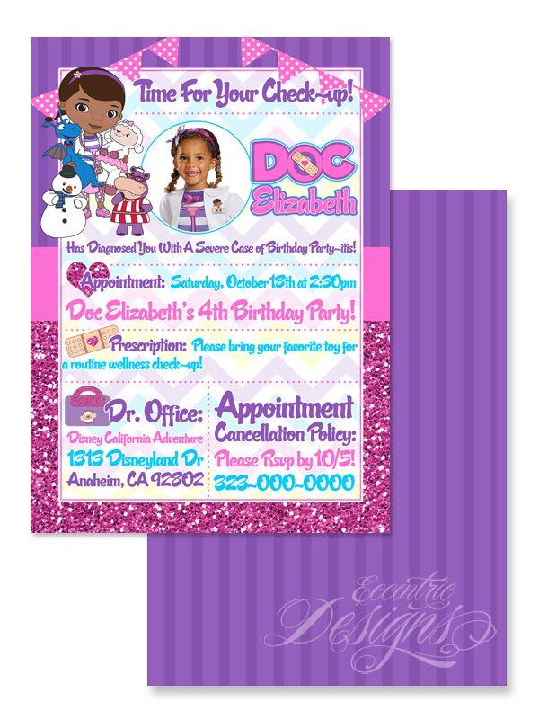 Doc McStuffins - Digital Birthday Invitation | invitation \'s and ...