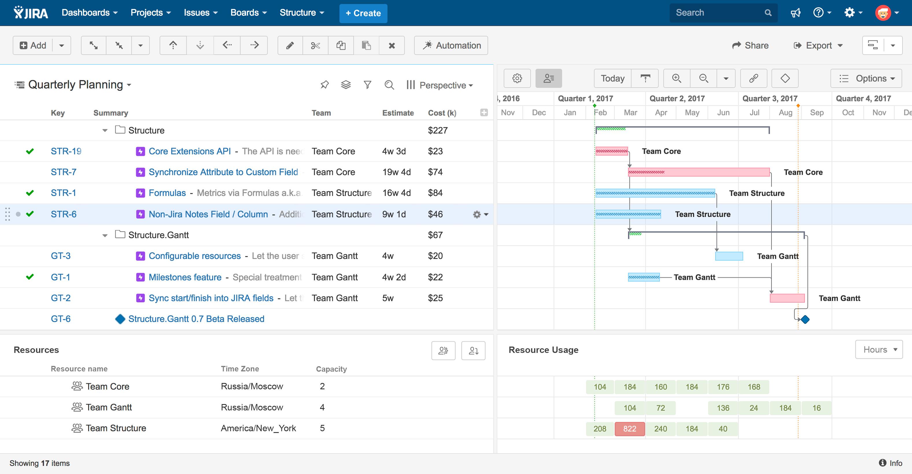 Gantt Charts For Jira And Structure Jira Project Management Alm Works Gantt Chart Gantt Gantt Chart Templates