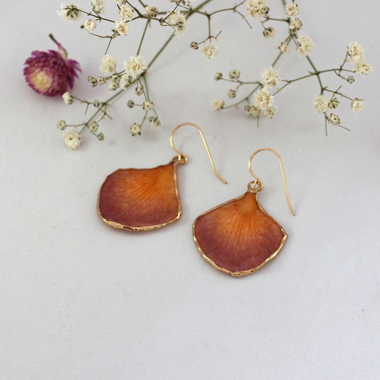 Real Leaf Earrings Real Petal Earrings Orchid Dangle Earrings Orchid Jewelry Real Flower Earrings Gift In 2020 Real Flower Jewelry Orchid Jewelry Flower Jewellery