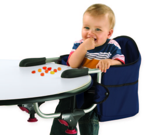 Caddy Hook On Chair   Portable High Chair Folds Flat For Storage And Travel!