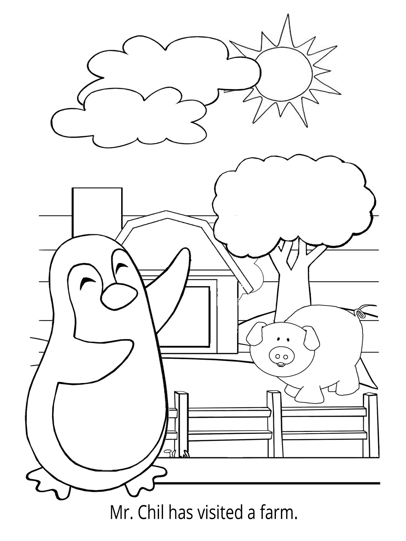 Penguin Coloring Book - Collect all pages of Mr. Chil\'s coloring ...