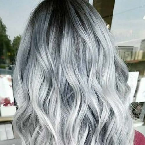 Metallic Baby Blue Tint Hair Styles And Colors Dyed