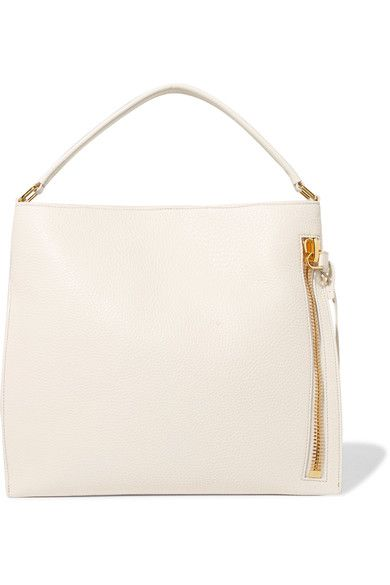 08a4cdcc6 TOM FORD Alix white textured-leather tote | TOM FORD - Luxury ...