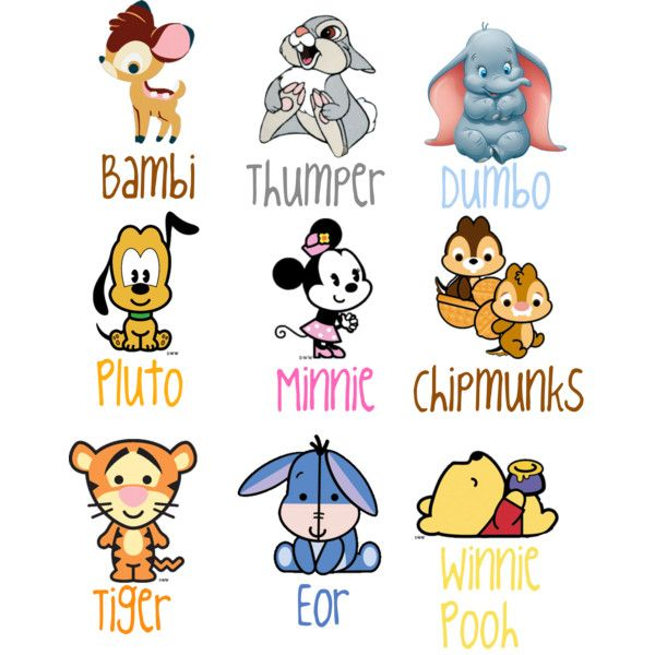 Adorable Cartoon Disney Animals Disney Baby Disney Characters