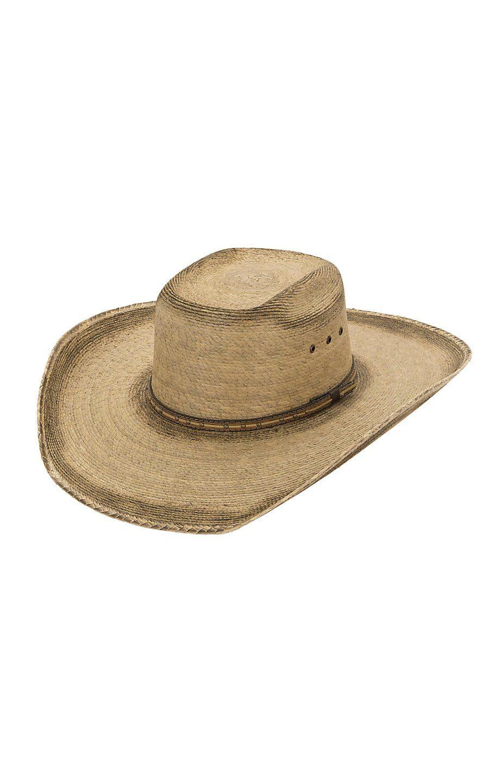 df8d31f4dab6e Cavenders 15X Bullrider Toast with Three Tone Hatband Palm Leaf Hat ...