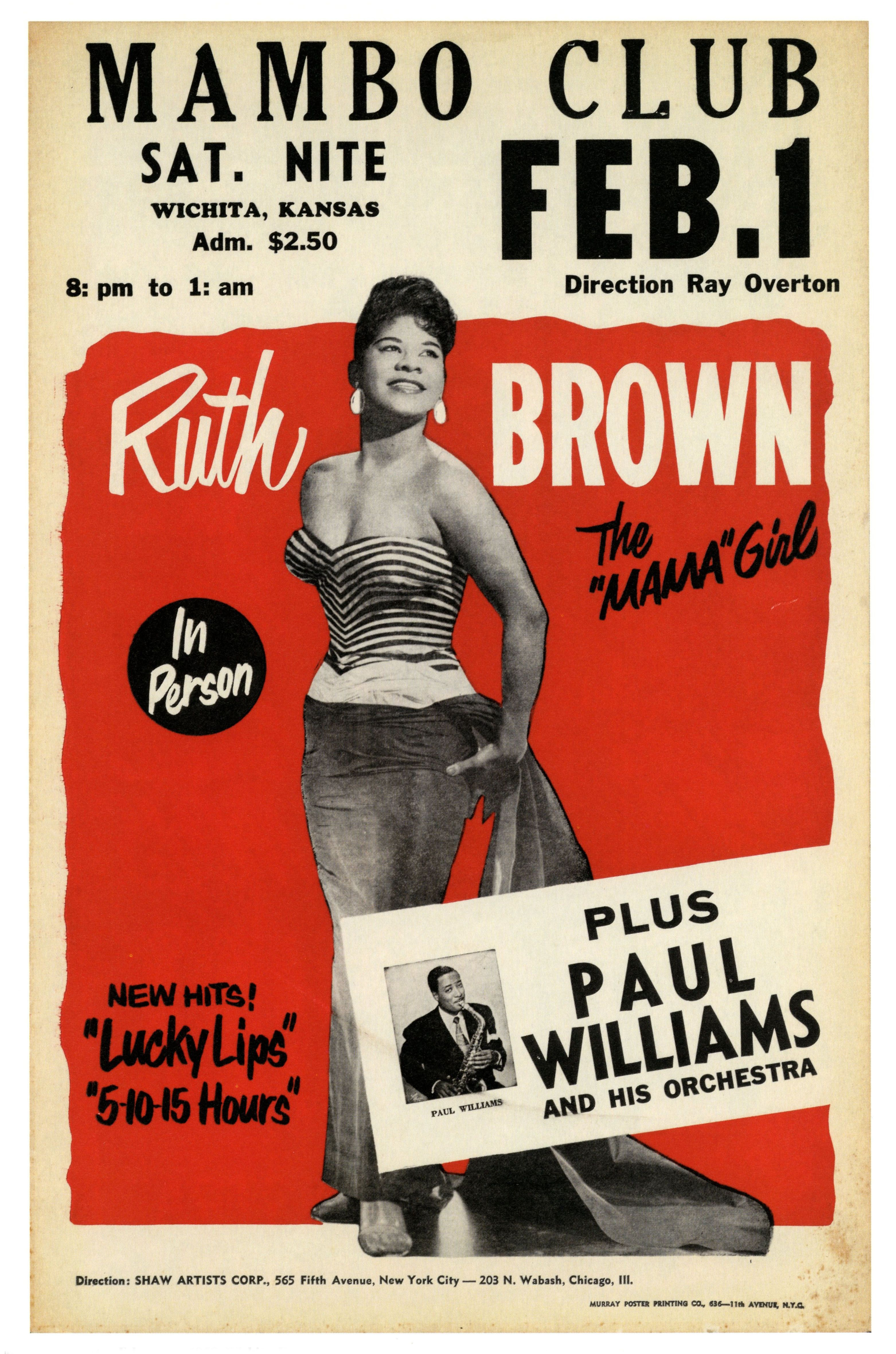 Ruth BROWN | Graphics & Typography | Vintage concert posters