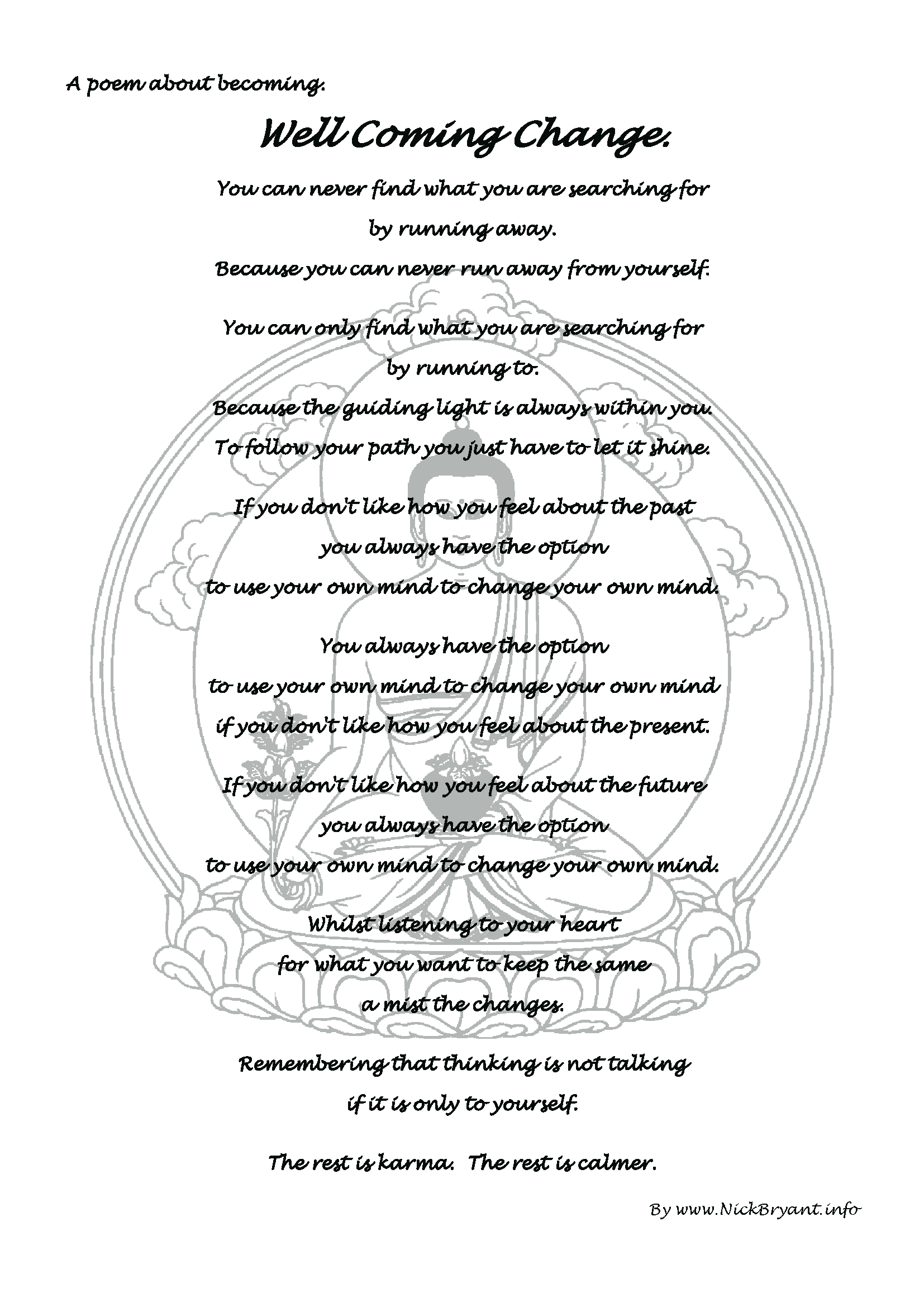 Well Coming Change A Poem About Becoming
