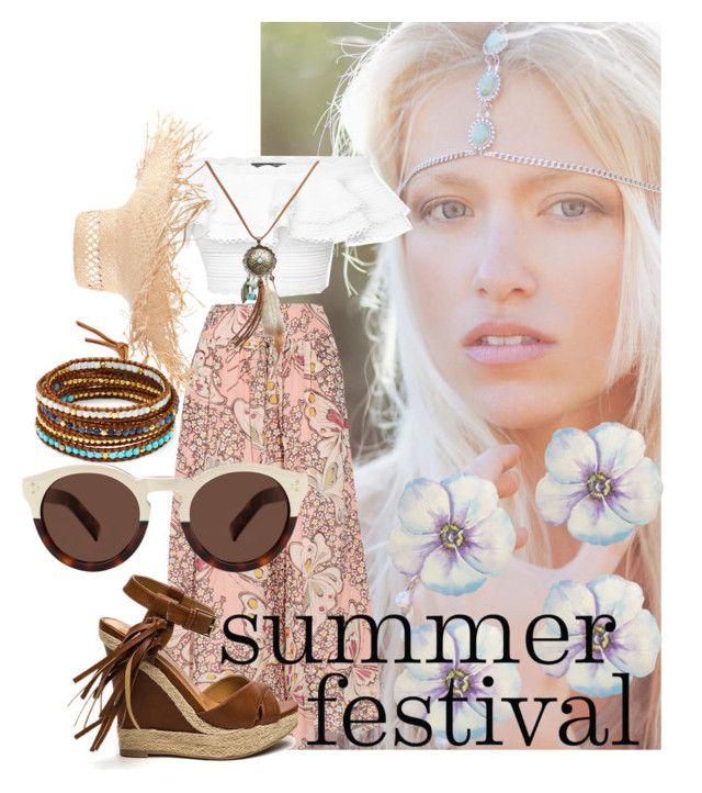 """summer festival"" by felisha-m ❤ liked on Polyvore featuring Paul & Joe, Alexander McQueen, Eugenia Kim, Illesteva, Chan Luu, Wet Seal, women's clothing, women's fashion, women and female"