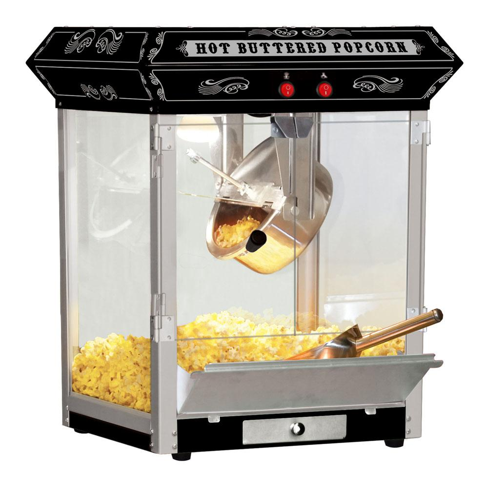 Funtime Carnival Style 4 Oz Black Countertop Popcorn Machine