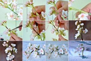 Цветок вишни из полимерной глины. Мастер класс. | Творческие мастер-классы по рукоделию и кулинарии.