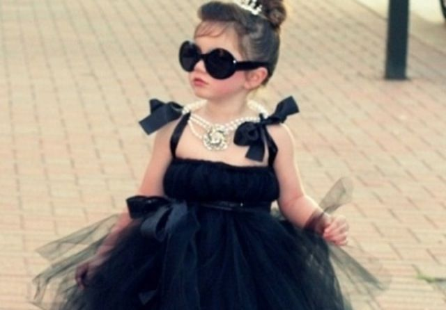 Awww a mini Audrey Hepburn! Love it!