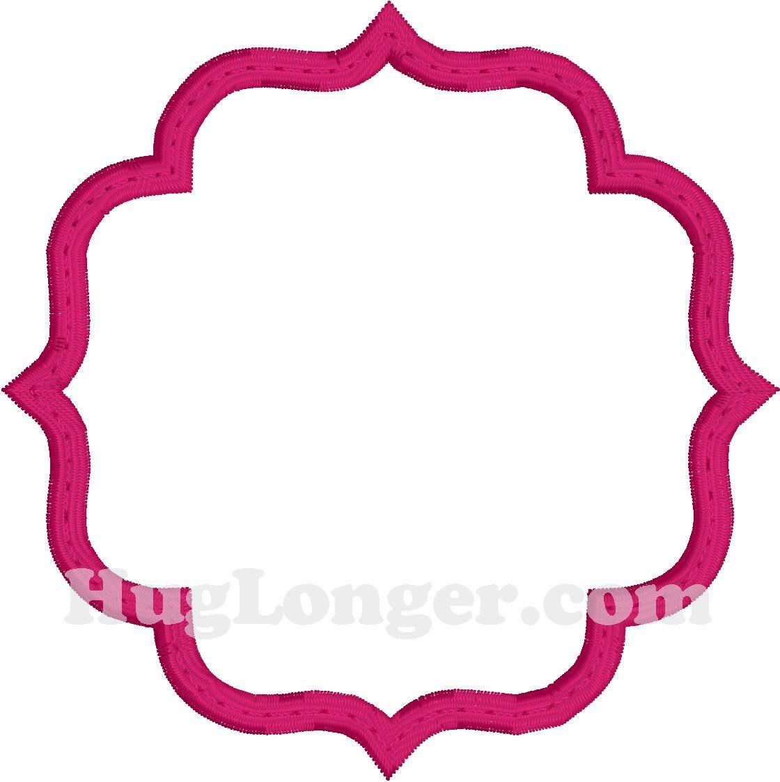 Applique Decorative Frame HL2197 embroidery file | machine ...