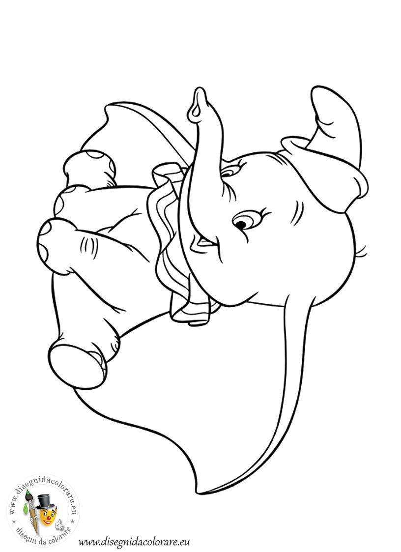 Lusso Disegni Da Colorare Dumbo Walt Disney Migliori Pagine Da