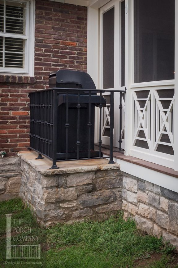 Nashville Bump Out Grill On Screen Porch House With