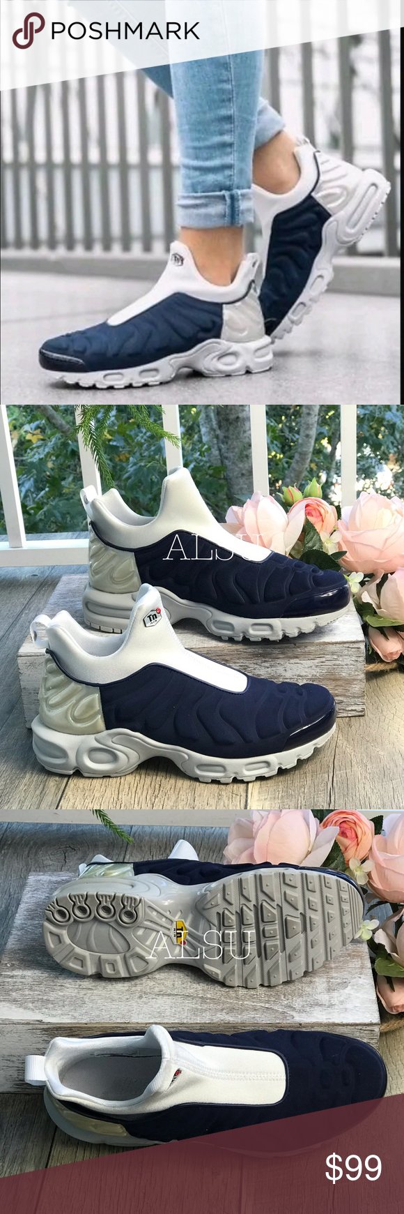 a9551365b3 Nike Air Max Plus Slip SP Midnight Navy Silver W Brand new with box, no