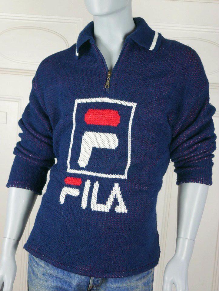 6f41e052fca8 1980s Vintage Rare FILA Sweater