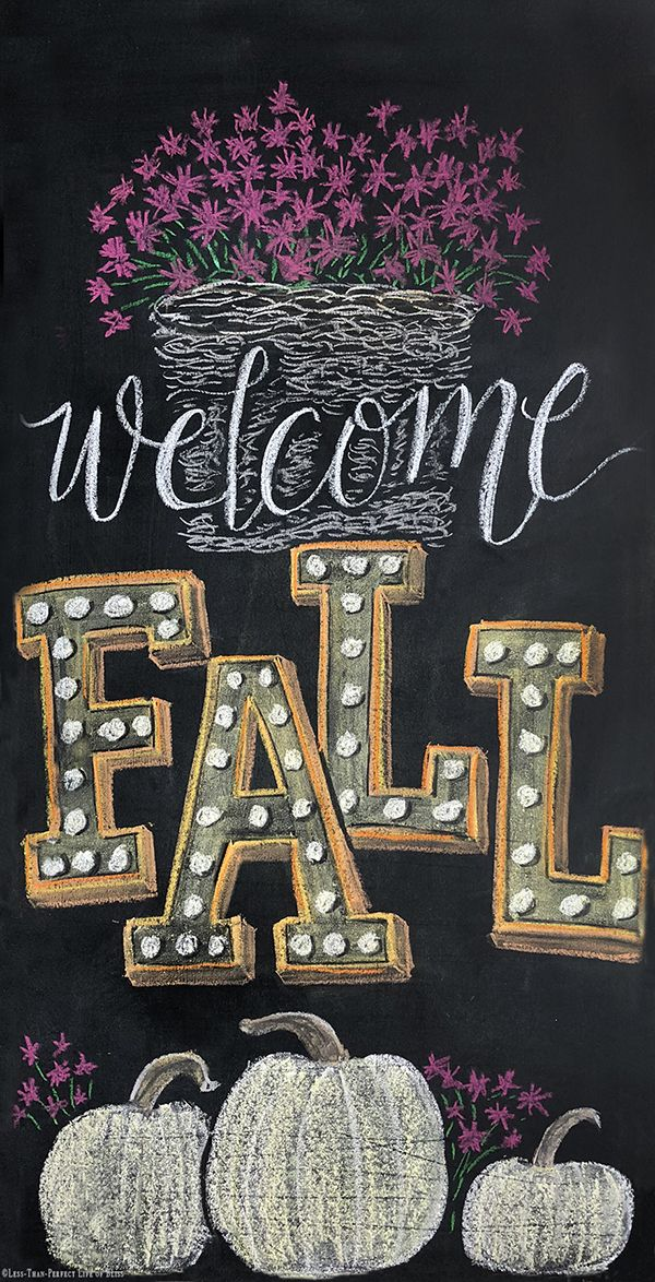 Photo of New Fall Chalkboard Art Free Printable