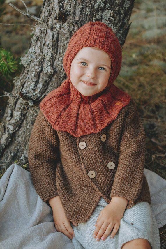 50f4b7a7bc27 Alpaca wool balaclava hat for kids