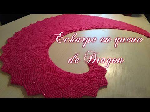 haut de gamme authentique code de promo large choix de couleurs et de dessins TUTO ECHARPE QUEUE DE DRAGON AU TRICOT knit scarf dragon ...