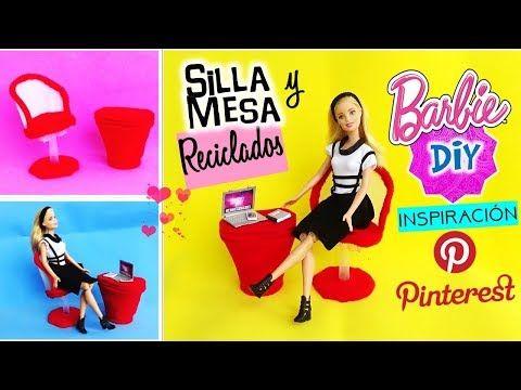 DIY ✄Como hacer CAMA para muñecas Barbie Estilo PINTEREST