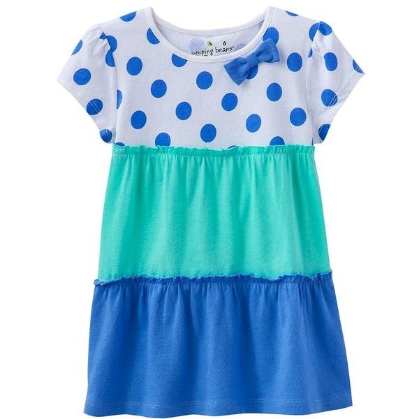 Jumping Beans Polka-Dot Babydoll Tee Girls 4-7 ($7.99) ❤ liked on Polyvore featuring kids