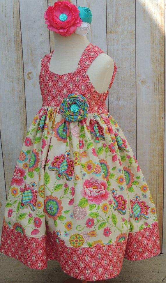 Girls Gypsy Reverse Knot Dress 12 Months 8 by MarieVivDesigns, $45.00