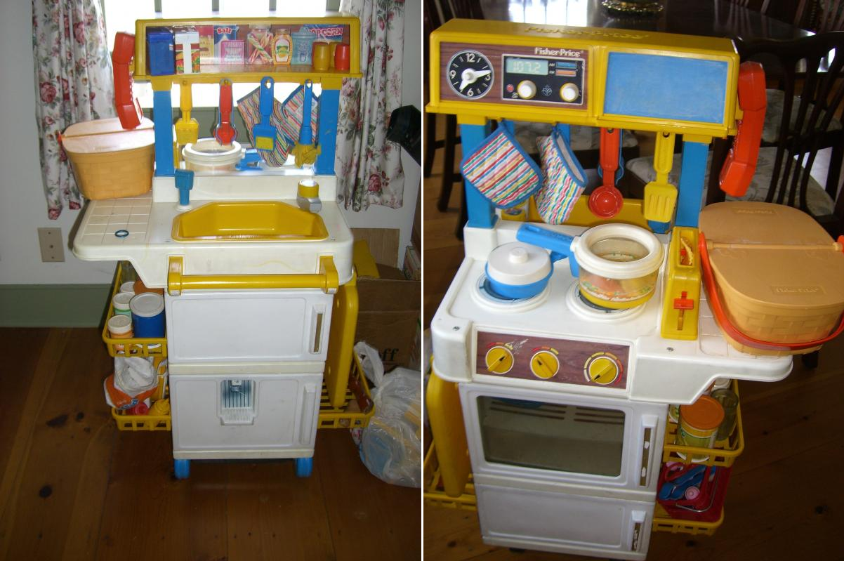 Fisher Price Kitchen Set I Used To Use The Picnic Basket