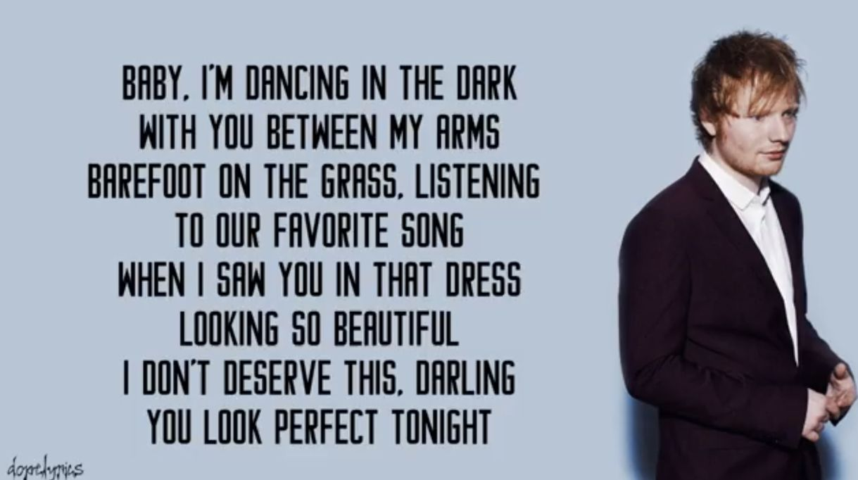 Pin By Sneha Sajith On Music Ed Sheeran Lyrics Ed Sheeran Lyrics Perfect Ed Sheeran