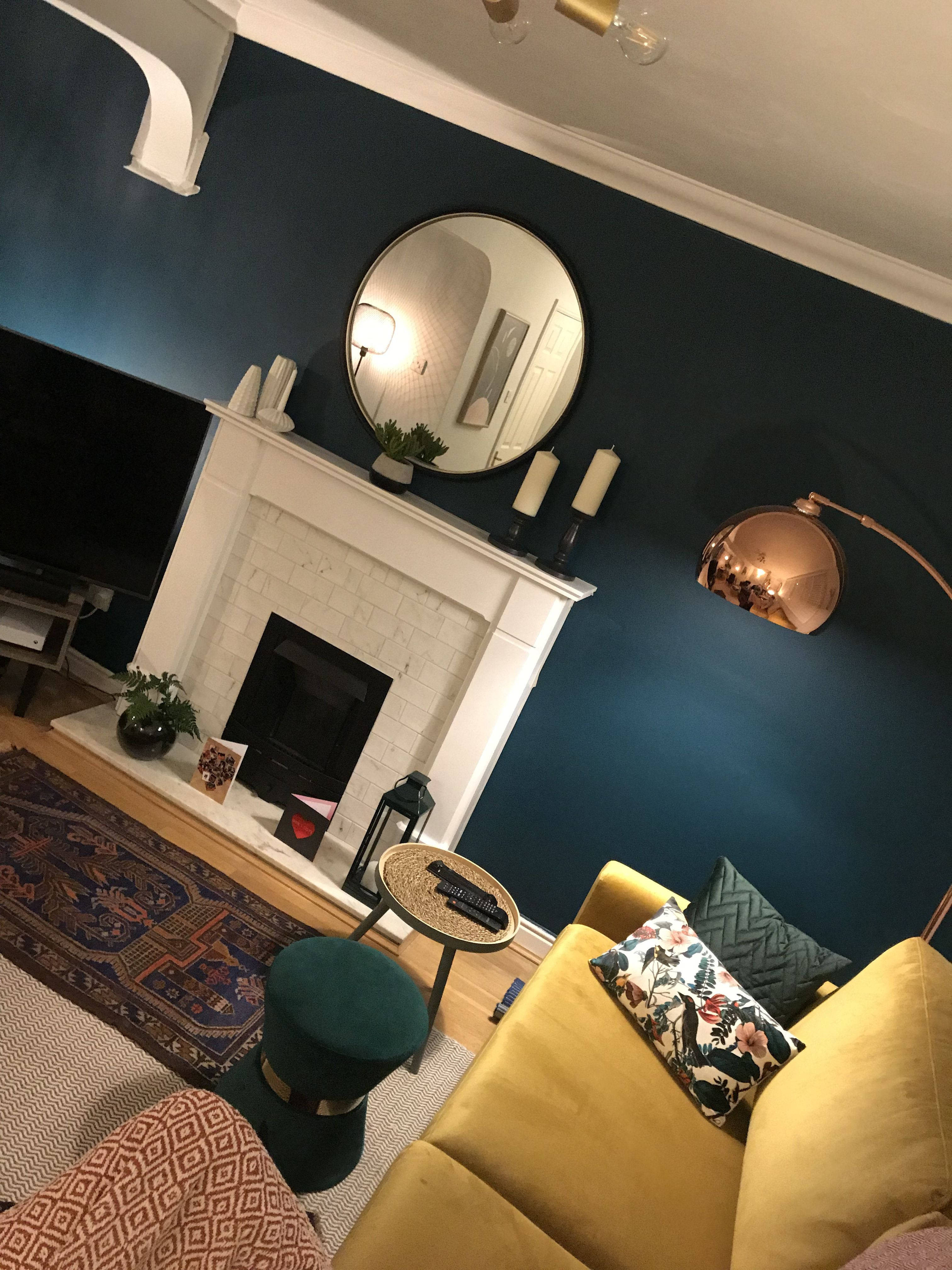 Blue And Copper Living Room Copper Living Room Mustard Living Rooms Blue And Copper Living Room