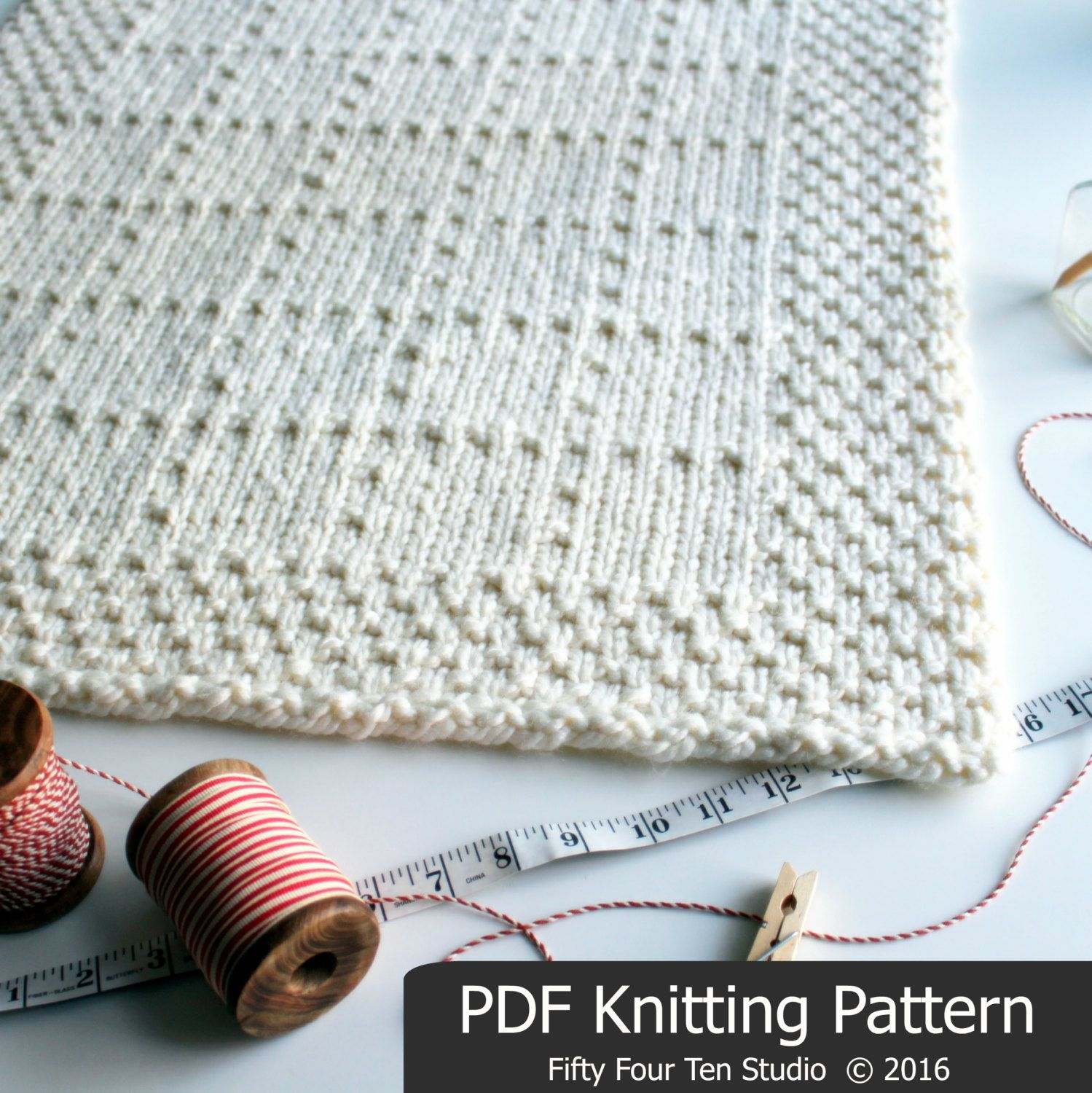 The Brookside Blanket KNITTING PATTERN is easy to knit with super ...
