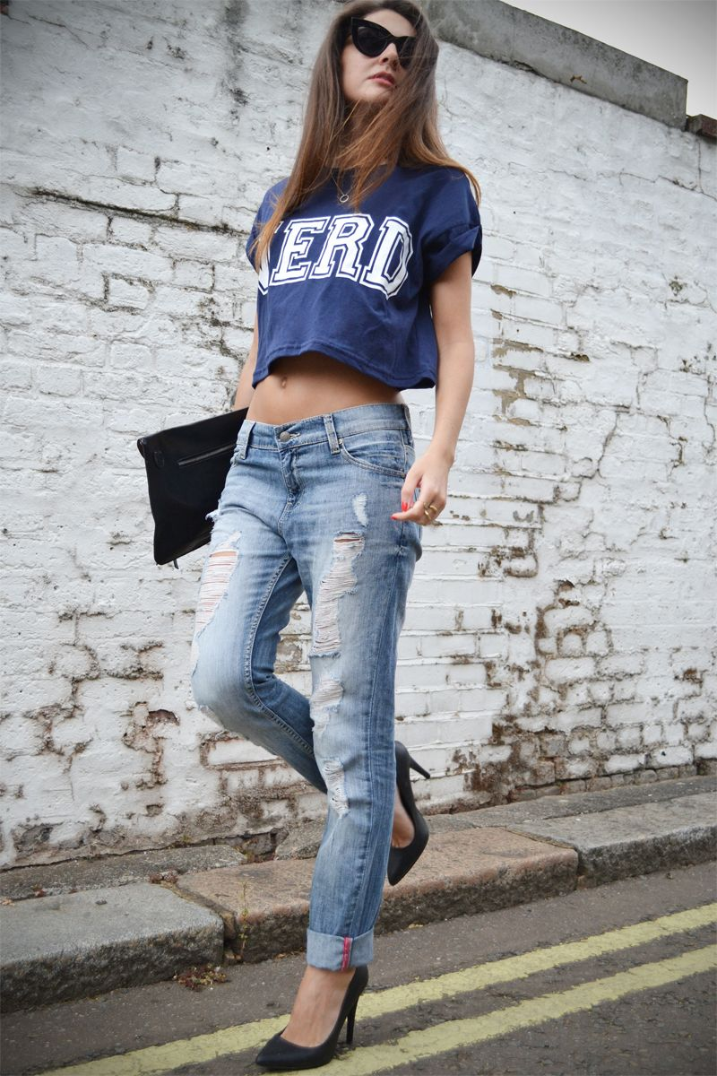 boyfriend-jeans   crop-top | That's my style !!! | Pinterest | The ...