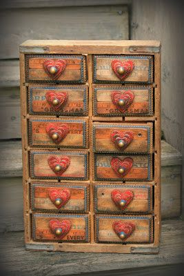 Downeast TRamp and Whimsy: Pepsi Crate Tramp Art APothecary