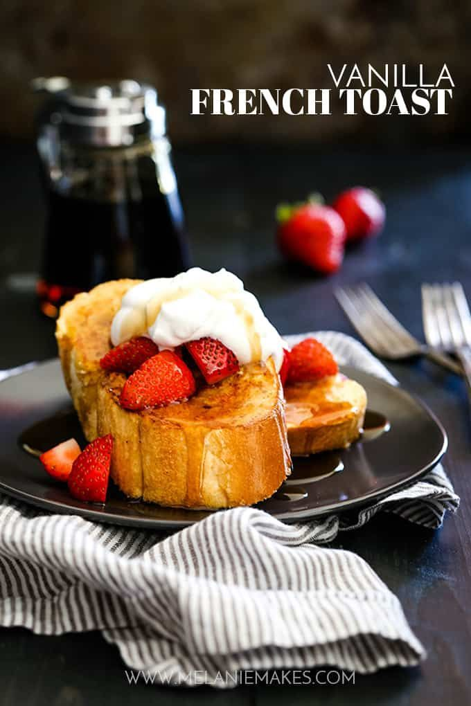 This Vanilla French Toast is guaranteed to become your new favorite as each slice is spiked with both vanilla extract and vanilla paste. So delicious!