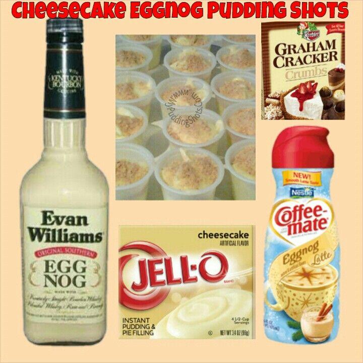 Cheesecake Eggnog Pudding Shots2