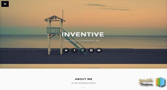 Inventive Portfolio Blogger Template. professional blogger templates ...