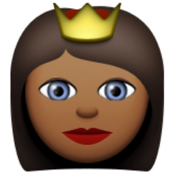 👸🏾 Deeper Brown Princess Emoji (U+1F478, U+1F3FE) | Emoji