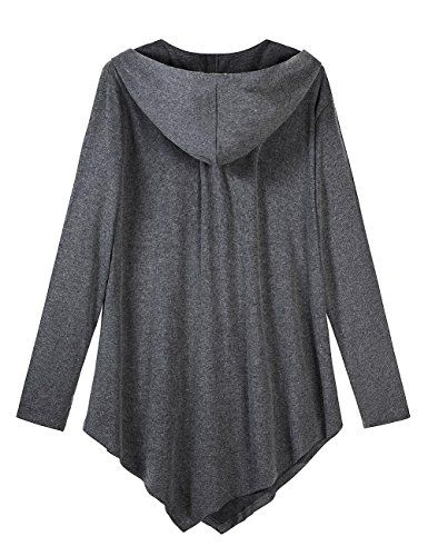 AMZ PLUS Women Plus Size Lightweight Full Zip Up Hooded Sweatshirt Hoodie Jacket